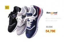90FUN Leather Retro Casual Men Sneakers