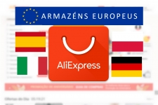 Armazéns Europeus no Aliexpress