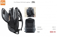 Xiaomi 26L Travel Business Backpack 15.6 inch Laptop Bag – Espanha