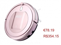Vacuum Robot Cleaner 7.6cm Height 500pa Suction 3 Cleaning Mode 5cm Anti-falling Anti-collision