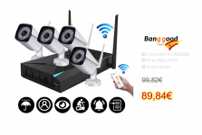 4CH Wireless Wi-Fi CCTV