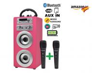 DYNASONIC – Altavoz Bluetooth con Karaoke
