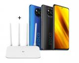 POCO X3 Global + Xiaomi Router 4A