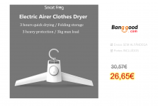 Smartfrog 150W 220V Electric Airer Clothes Dryer