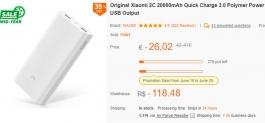 Xiaomi 2C 20000mAh Quick Charge 3.0 Polymer Power Bank 2 Dual USB Output