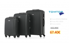 TOMSHOO 3 Piece Luggage Set-Black
