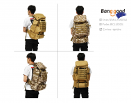 80L Outdoor Military Backpack