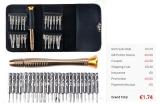 25 in 1 Screwdriver Wallet Kit Repair Tools