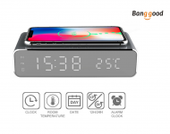 Electric LED Clock With Phone Wireless Charger