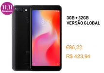 Xiaomi Redmi 6 Global Versão 3GB 32GB