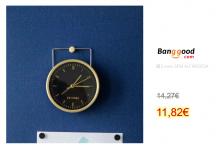 YUIHOME DECOR Simple Silent Metal Alarm Clock