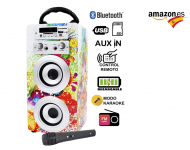 DYNASONIC – Altavoz Bluetooth con Karaoke 10W