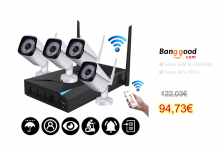 4CH Wireless Wi-Fi 1080P Outdoor