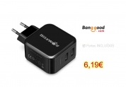 BlitzWolf® BW-S2 4.8A 24W Dual EU USB Charger With Power3S Tech