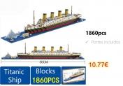DIY Titanic Shape Block Toys for Children 1860pcs blocks