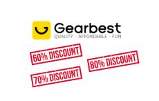 Descontos de 80% na Gearbest