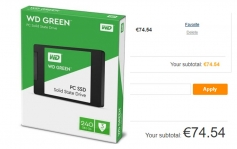 WD Green Solid State Drive 240GB