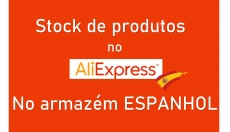 Stock de produtos no armazém Espanhol