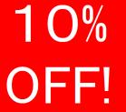 10% de desconto em todo o site
